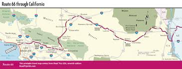 Illinois Interstate Map by Driving Route 66 Through California Road Trip Usa