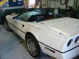 cheap corvette 88 corvette chev runs auto drive air low white convertible