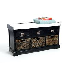 Hallway Shoe Storage Bench Storage Bench With Drawers Plans Hallway Storage Bench In Black