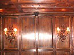 mahogany wainscoting panels chateau bed architecture