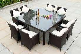 Square Patio Table by Chair 12 Seater Dining Table Modern Design With Chic Square Cute