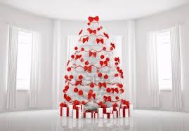 white xmas tree decoration ideas home design
