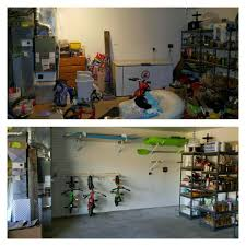 Renovations Before And After Garage Remodel Floors Walls And Cabinets New And Existing Homes