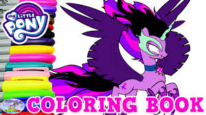 my little pony color book my little pony coloring book midnight sparkle mlp twilight