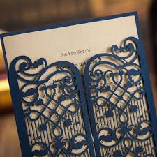 Engagement Card Invitations Aliexpress Com Buy Laser Cut Wedding Party Custom Invitations