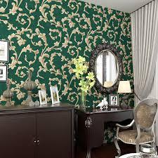 green wallpaper room beibehang american rural non woven wallpaper bedroom living room tv