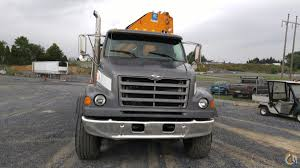 sold 2000 ford 8500 with effer 335 knuckle boom crane truck crane