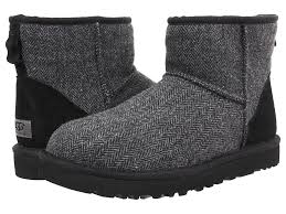 s ugg mini boots ugg ugg mini tweed black wool s pull on boots
