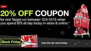 friday black target target black friday shopping earns you a 20 off coupon