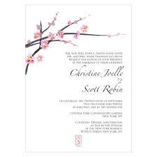 cherry blossom wedding invitations cherry blossom wedding invitations set of 4
