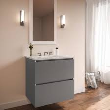 Robern Vanities Robern 24279200nb00002 Curated Cartesian Matte Gray Quartz White