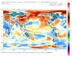 World Temperature Map by January 2015 Global Surface Land Ocean And Lower Troposphere