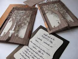 creative wedding invitations clever tree wedding invitation by laser creative weddbook