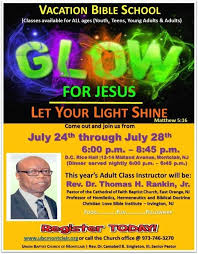 let your light shine vacation bible vacation bible at union baptist of montclair july 24 28
