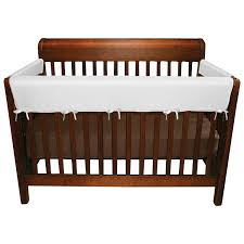 Bed Rails For Convertible Cribs by Jolly Jumper 3 Piece Soft Crib Rail Set White Safe Sleeping