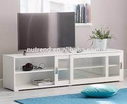 tv stand glass door wooden modern tv cabinet with glass sliding doors showcase design