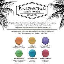 bath bombs gift set of 6 scents paraben free