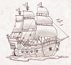 pirate ship a sketch for a how to draw book my illustrations