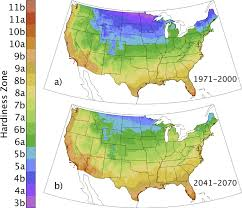 Gardening Zones Usa Map - projected changes in cold hardiness zones and suitable overwinter