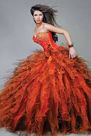 orange quinceanera dresses sweetheart ruffles beaded strapless orange quinceanera dresses