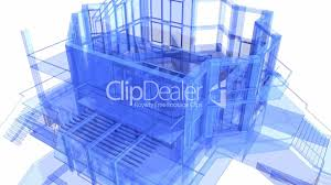 3d architecture blueprint of the house royalty free video and