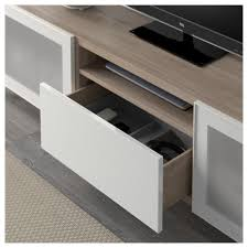 ikea besta bestå tv unit lappviken sindvik black brown clear glass drawer
