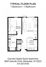 House Plans With Mil Apartment Granville Heights Senior Apartments Milwaukee Wi