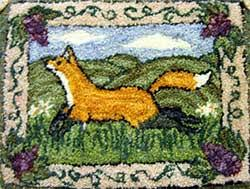 Punch Needle Rug Hooking Miniature Punch Needle Hooked Rugs J Conner Hooked Rugs