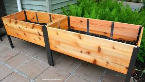Elevated Planter Box Elevated Planter Box In Garden Without Plants