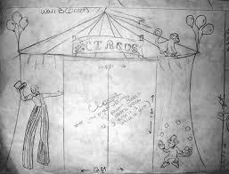 all kids murals circus mural sketch the main wall has circus
