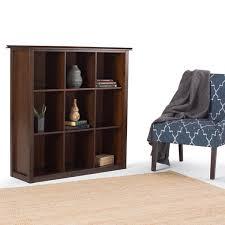 Cubic Bookcase Wyndenhall Stratford Auburn Brown 9 Cube Bookcase U0026 Storage Unit