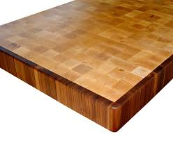 custom wood countertop options patterning end grain hard maple island top with a walnut border