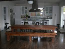 kitchen room wooden dining table and bench set eat in kitchen