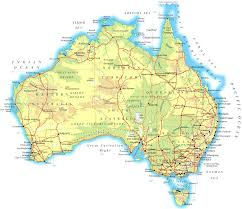Physical Map Of Germany by Large Physical Map Of Australia With Roads And Cities Vidiani