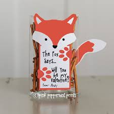 free printable valentine what does the fox say pink peppermint