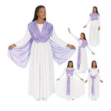 13124 liturgical dance dress with attached drape 48 00 praise