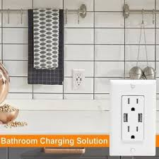 floor l with usb port ora dual 2 4a 2 port rapid charging usb wall outlet conventional