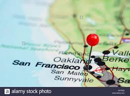 Map Uf Usa by San Francisco Pinned On A Map Of Usa Stock Photo Royalty Free