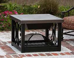 cocktail table fire pit everything barbeque old world bronze finish cocktail table fire pit