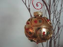 beaded glitter christmas ornament