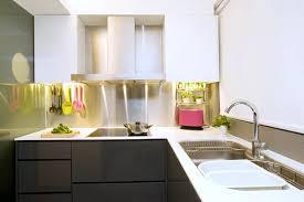 stainless kitchen backsplash kitchens stainless steel backsplash in a minty kitchen
