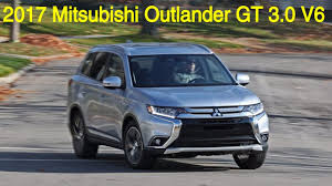 mitsubishi suv blue 2017 mitsubishi outlander gt v6 suv review specs price and test