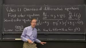 differential equations and linear algebra 1 1 overview of