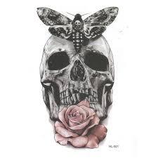 2015 design popular arm skull tattoos waterproof temporary