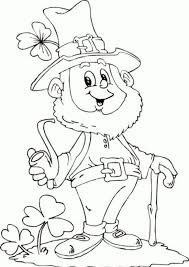 leprechaun coloring pages printable free leprechaun coloring pages getcoloringpages com