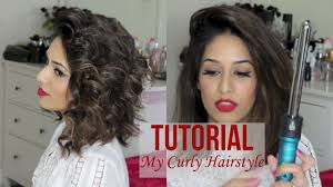 wand curl styles for short hair my curly hairstyle for short hair nume titan 3 youtube