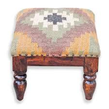 furniture small round ottoman with storage kilim ottoman