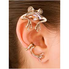 ear wraps and cuffs frog ear wrap frog ear cuff bronze curious frog ear wrap