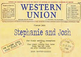 telegram wedding invitation western union telegram wedding invitations