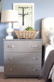 Tall Bedside Cabinets by Our Ikea Hacked Tarva Dressers Turned Bedside Tables A Little
